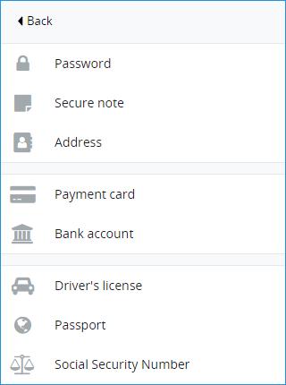 Добавление информации LastPass