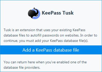 Интерфейс KeePass Tusk
