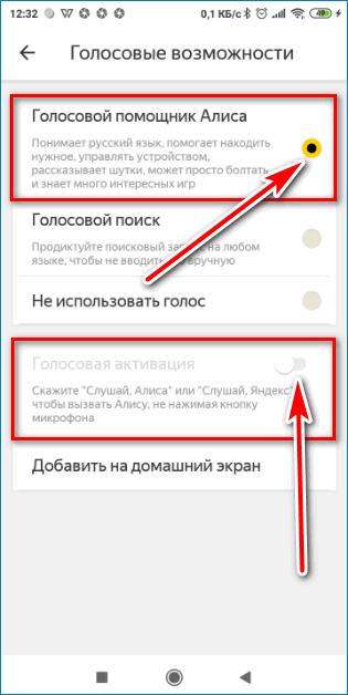 Активация Алисы Yandex