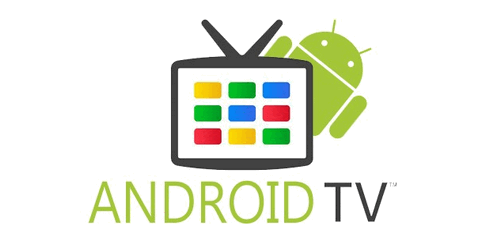 Логотип Android TV с телевизором