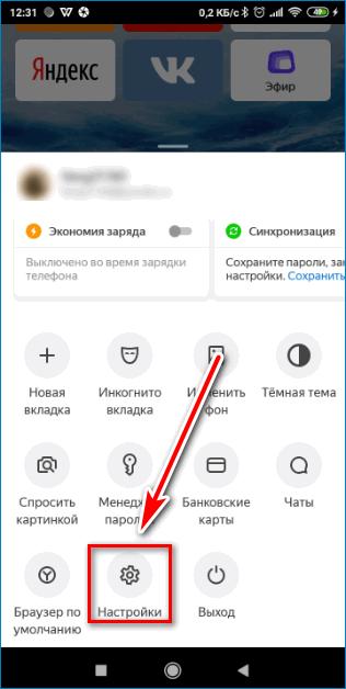 Опции Yandex