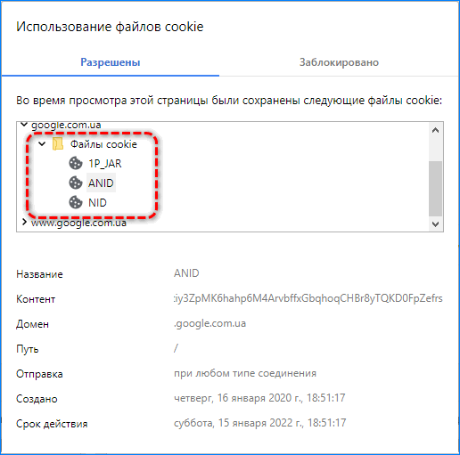 Данные с Google Яндекс.Браузер