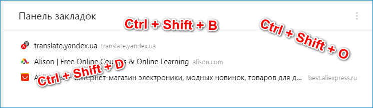 Горячие вкладки для работы с закладками в браузере Яндекс