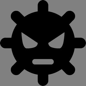 Иконка компьютерного вируса