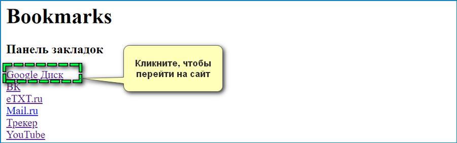 Сохраненные заклдки Яндекс Браузер