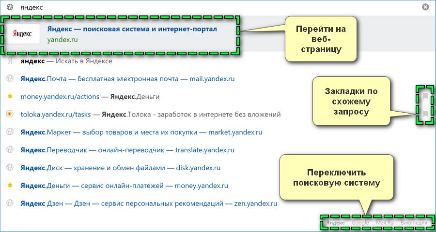Умная строка Яндекс Браузера