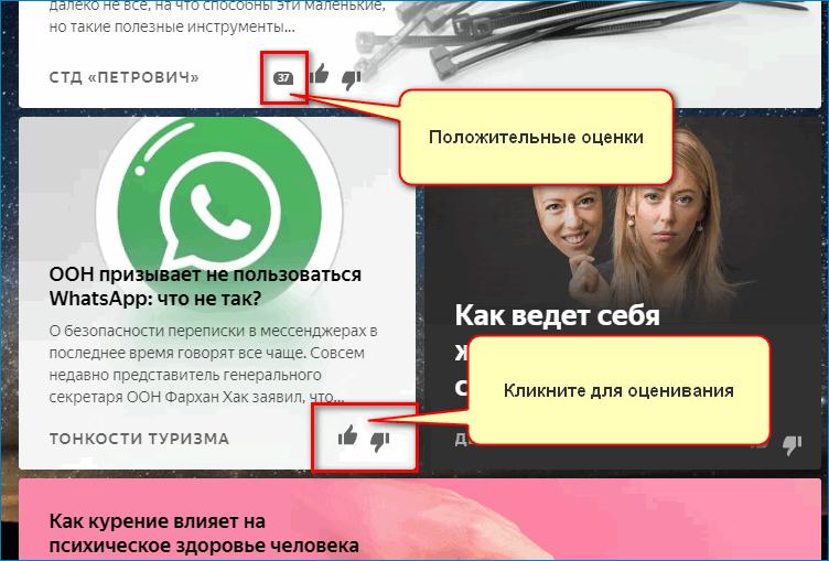 Оценки Yandex