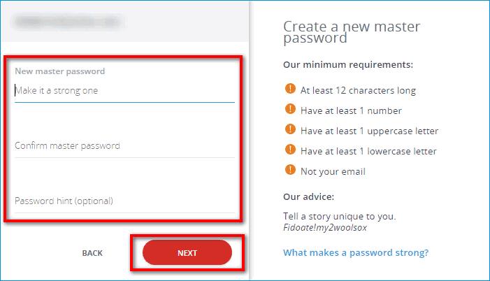 Ввод мастер пароля LastPass